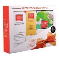 Мерц курс экспресс-лифтинг анти-эйдж драже 675 мг, 60 шт., крем-мусс с коллагеном 50 мл, маска увлаж