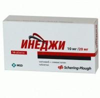 Инеджи таблетки 10 мг+20 мг, 28 шт.