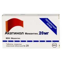 Акатинол мемантин таблетки 20 мг, 28 шт.