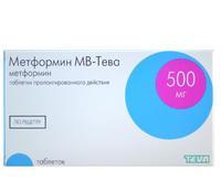 Метформин МВ-Тева таблетки пролонг. действия 500 мг 60 шт. упак.