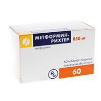 Метформин-рихтер таблетки 850 мг, 60 шт.