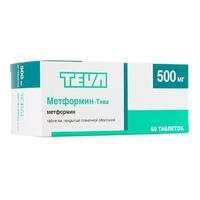 Метформин-Тева таблетки покрыт.плен.об. 500 мг 60 шт.