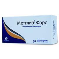Метглиб Форс таблетки покрыт.плен.об. 2,5 мг+500 мг 30 шт.
