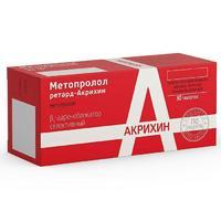 Метопролол ретард-Акрихин таблетки 25 мг 30 шт.
