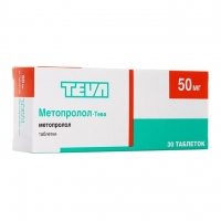 Метопролол-Тева таблетки 50 мг 30 шт.