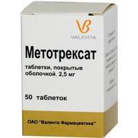 Метотрексат таблетки 2.5 мг, 50 шт.