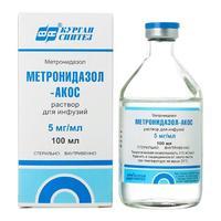 Метронидазол-Акос флаконы 500 мг, 100 мл