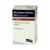 Метронидазол никомед таблетки 500 мг, 20 шт.