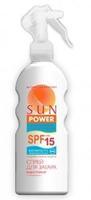 Michel Laboratory Sun Power спрей для загара водостойкий SPF15 200 мл упак.
