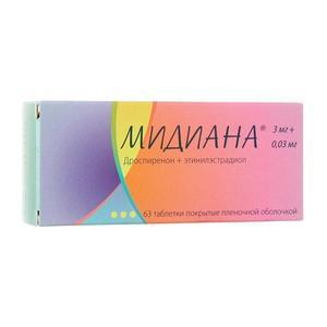 Мидиана таблетки, 63 шт.