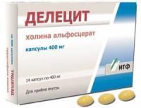 Делецит капсулы 400 мг, 14 шт.
