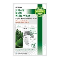 Mijin Junico Crystal маска тканевая c алое Junico Crystal All-in-one Facial Mask Aloe 23 г