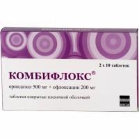 Комбифлокс таблетки 500+200 мг, 10 шт.