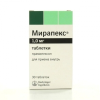 Мирапекс таблетки 1 мг, 30 шт.