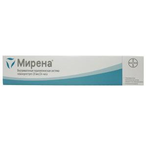 Мирена внутримат. терапевт. система 20мкг/сут №1