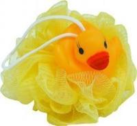 Мочалка Бьюти Формат/Beauty Format детская утенок на шаре пищалка 1 шт.