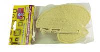 Мочалка из люфы AZUR детская уточка 12х16 см 1 шт