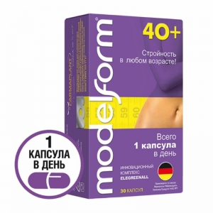 Модельформ 40+ капсулы 380 мг, 30 шт.