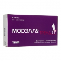 Модэлль Тренд таблетки покрыт.плен.об. 3 мг +0,02 мг 84 шт.