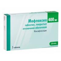 Мофлаксия таблетки покрыт.плен.об. 400 мг 5 шт.