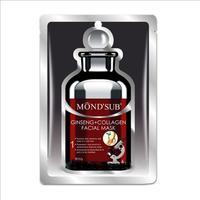 MondSub Маска тканевая для лица с экстрактом Женьшеня и коллагеном энергия 20г
