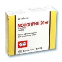 Моноприл таблетки 20 мг, 28 шт.