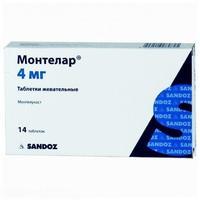 Монтелар таблетки жевательные 4 мг, 14 шт.