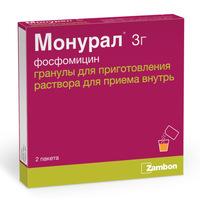 Монурал гранулы для приготовления раствора для приема внутрь 3 г пакетики 2 шт.