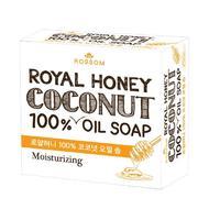 Mukunghwa мыло туалетное твердое из 100% масла кокоса с маточным молоком и мёдом 100 г