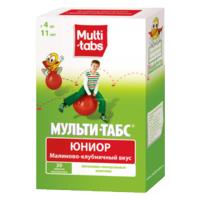 Мульти-табс Юниор таблетки жевательные малина-клубника 30 шт.
