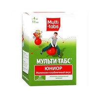 Мульти-табс Юниор таблетки жевательные малина-клубника 60 шт.
