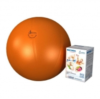 Мяч медицинский для реабилитации Фитбол Стандарт 450 мм ПВХ оранжевый 1 шт.