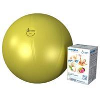 Мяч медицинский для реабилитации Фитбол Стандарт 450 мм ПВХ желтый 1 шт.