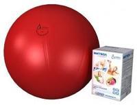 Мяч медицинский для реабилитации Фитбол Стандарт 550 мм ПВХ красный 1 шт.