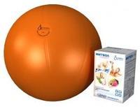 Мяч медицинский для реабилитации Фитбол Стандарт 550 мм ПВХ оранжевый 1 шт.