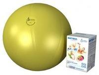 Мяч медицинский для реабилитации Фитбол Стандарт 550 мм ПВХ желтый 1 шт.