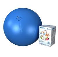 Мяч медицинский для реабилитации Фитбол Стандарт 650 мм ПВХ голубой 1 шт.