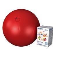 Мяч медицинский для реабилитации Фитбол Стандарт 650 мм ПВХ красный 1 шт.