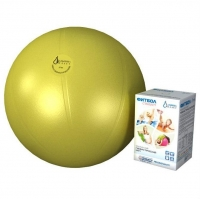 Мяч медицинский для реабилитации Фитбол Стандарт 650 мм ПВХ желтый арт. 402612 1 шт.