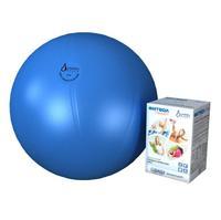 Мяч медицинский для реабилитации Фитбол Стандарт 750 мм ПВХ голубой 1 шт.