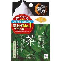 Мыло Cow для лица Ochya с эксктрактом зеленого чая коллагеном и гиалуроновой кислотой+мочалка 80 г 1 шт.