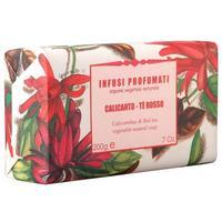 Мыло Iteritlia натуральное растительное Ароматный чай Чашецветник Красный чай 150г упак.