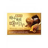 Мыло Mukunghwa для тела с медом и скорлупой каштанов Honey Body Soap отшелушивающее и увлажняющее 100гр