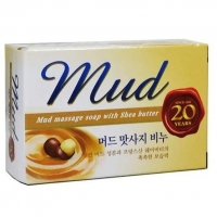 Мыло Mukunghwa Массажное с экстрактом масла Ши и целебными грязями Mud 100гр