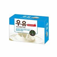 Мыло Mukunghwa Смягчающее косметическое с молоком и маслом жожоба Pure Milk Soap 100гр