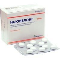 Ньювелонг таб. пролонг. действ. п/о плён. 225 мг №30