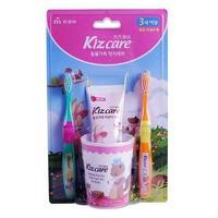 Набор для чистки зубов Mukunghwa детский (стакан, 2 щеточки, гель-паста 75гр) вкус клубники с 3л Kizcare 1 шт.