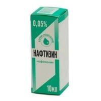 Нафтизин капли в нос 0.05% тюбик-капельница 10 мл