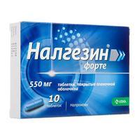 Налгезин форте таблетки 550 мг, 10 шт.