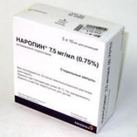 Наропин р-р для инъекций 7,5 мг/мл ампулы полипроп